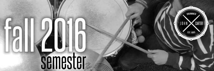 john carter drummer Fall 2016 with Logo