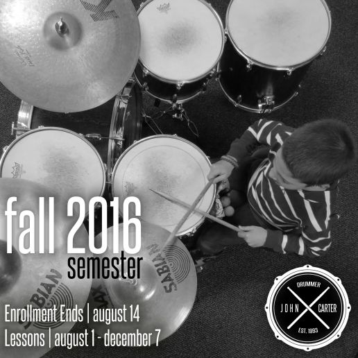 john carter drummer FALL 2016