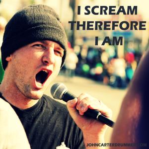 I Scream Therefore I Am JohnCarterDrummer dot Com - Cross Process2