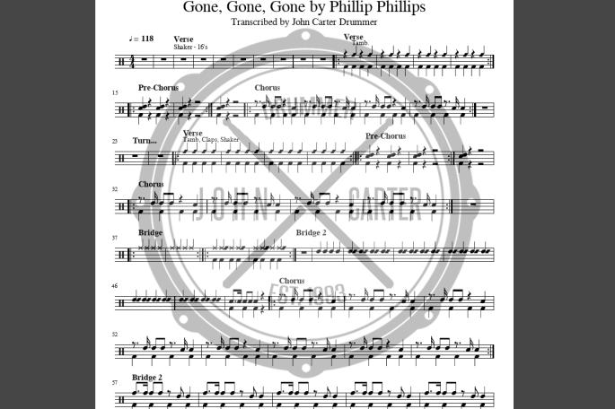 JCD - Gone Gone Gone Chart