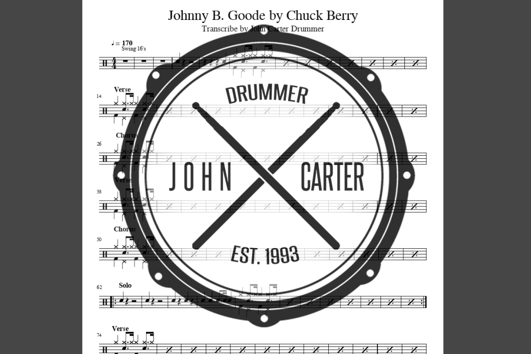 JCD - Chart Graphic Johnny B Goode