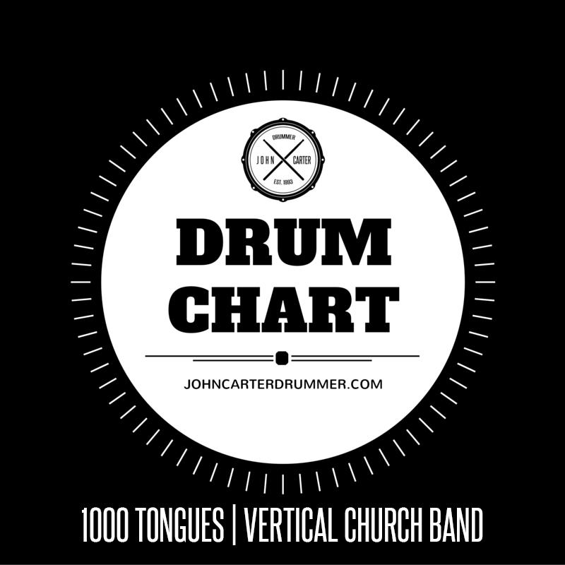 DRUM CHART - 1000 TONGUES