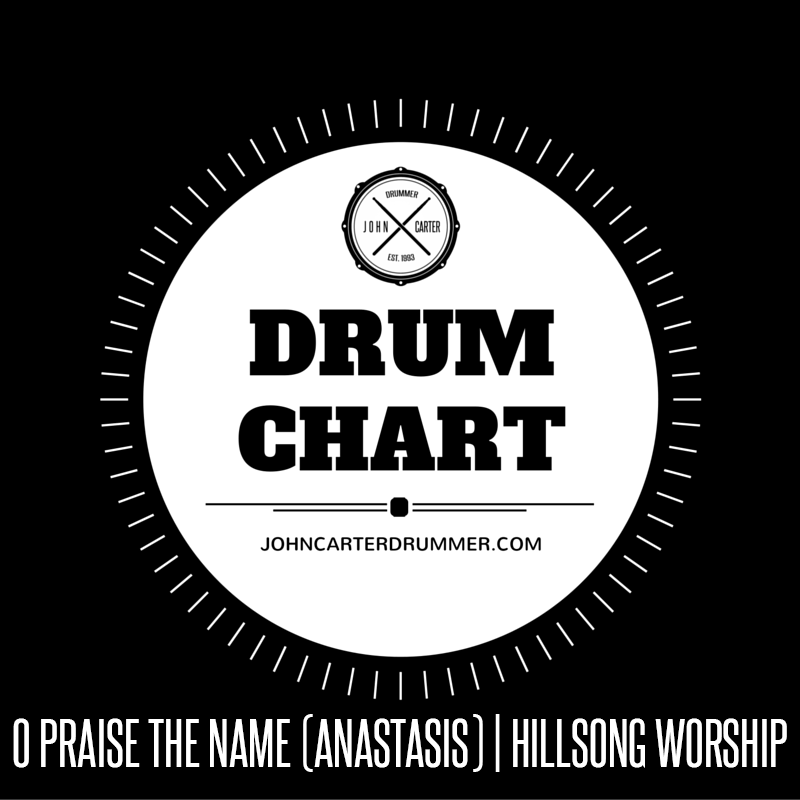 DRUM CHART – O PRAISE THE NAME (ANASTASIS) – John Carter Drummer